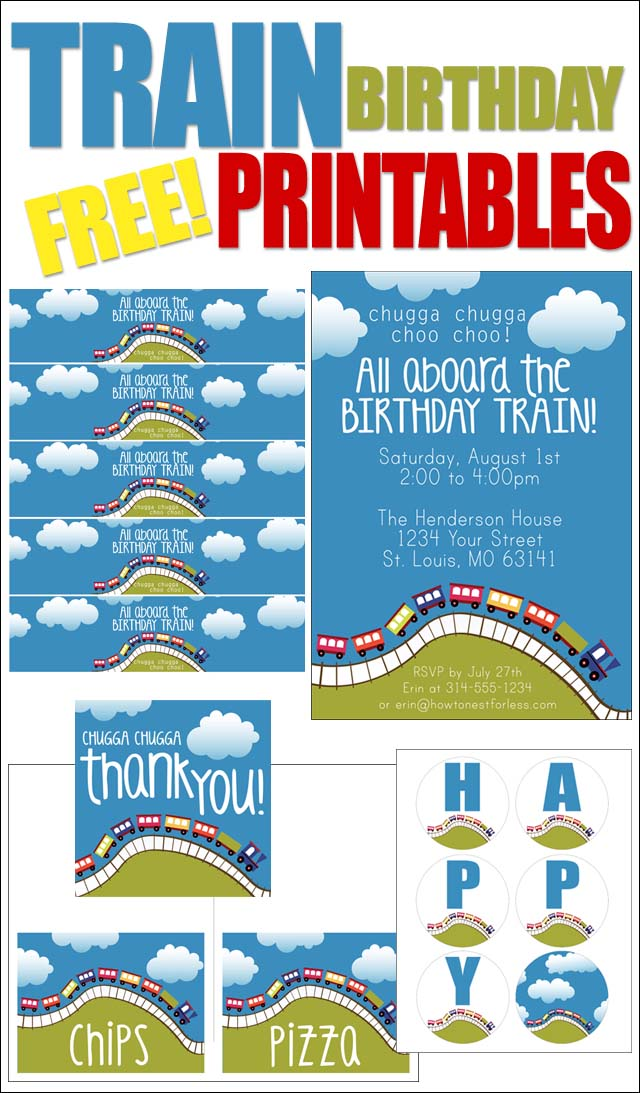 free printable birthday party labels ; TRAIN-BIRTHDAY-PARTY-FREE-PRINTABLES