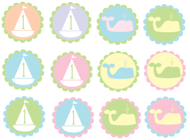 free printable birthday party labels ; free-1st-birthday-party-printables-2