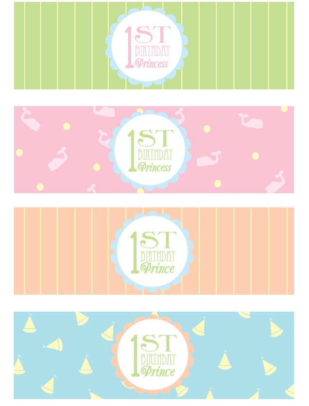 free printable birthday party labels ; free-1st-birthday-party-printables-3