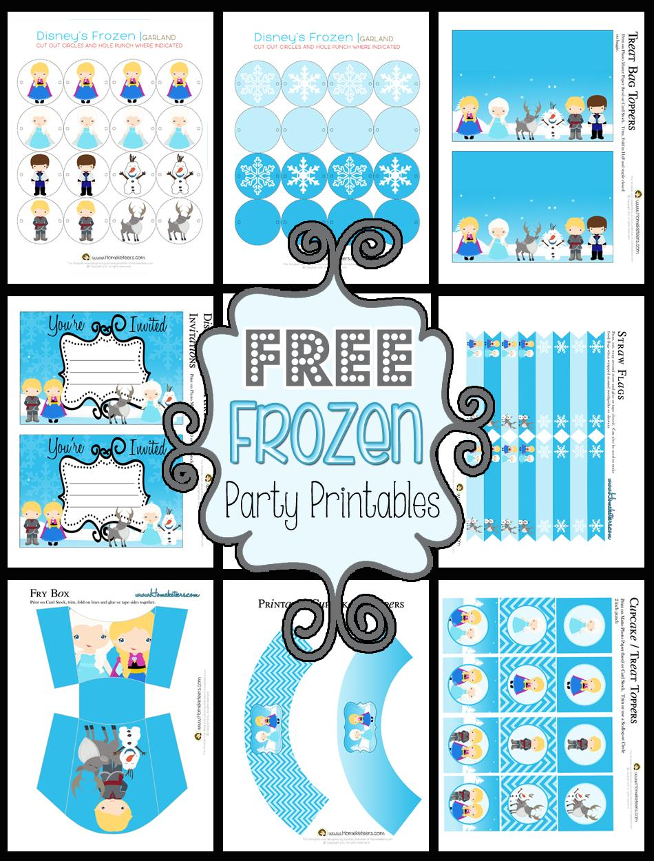 free printable birthday party labels ; free-frozen-party-printables1