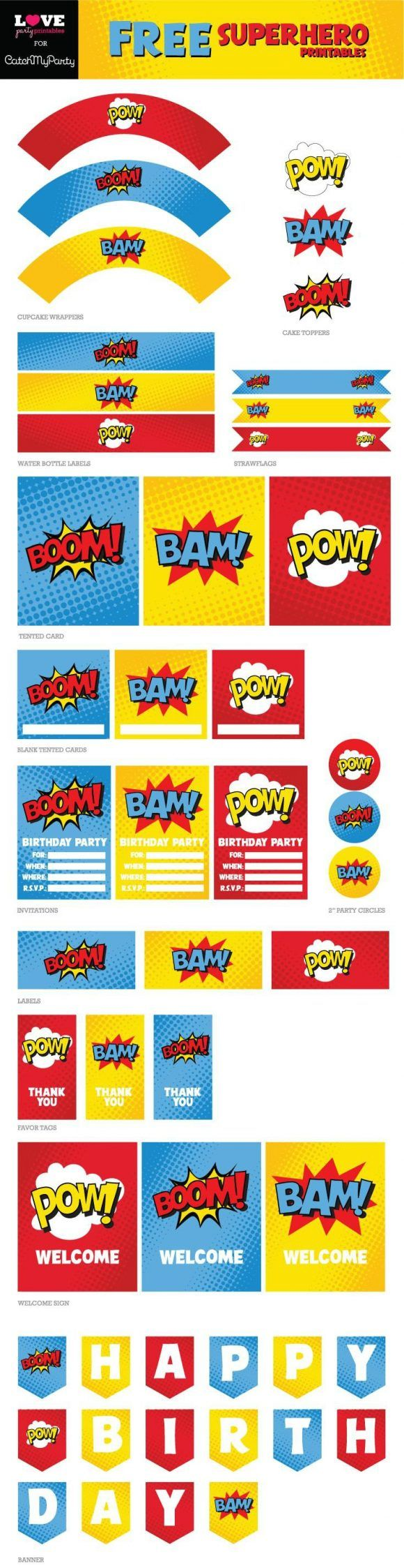 free printable birthday party signs ; 6c697f983a1bf1a5e7d2357ff0ca08aa--vintage-comic-books-vintage-comics