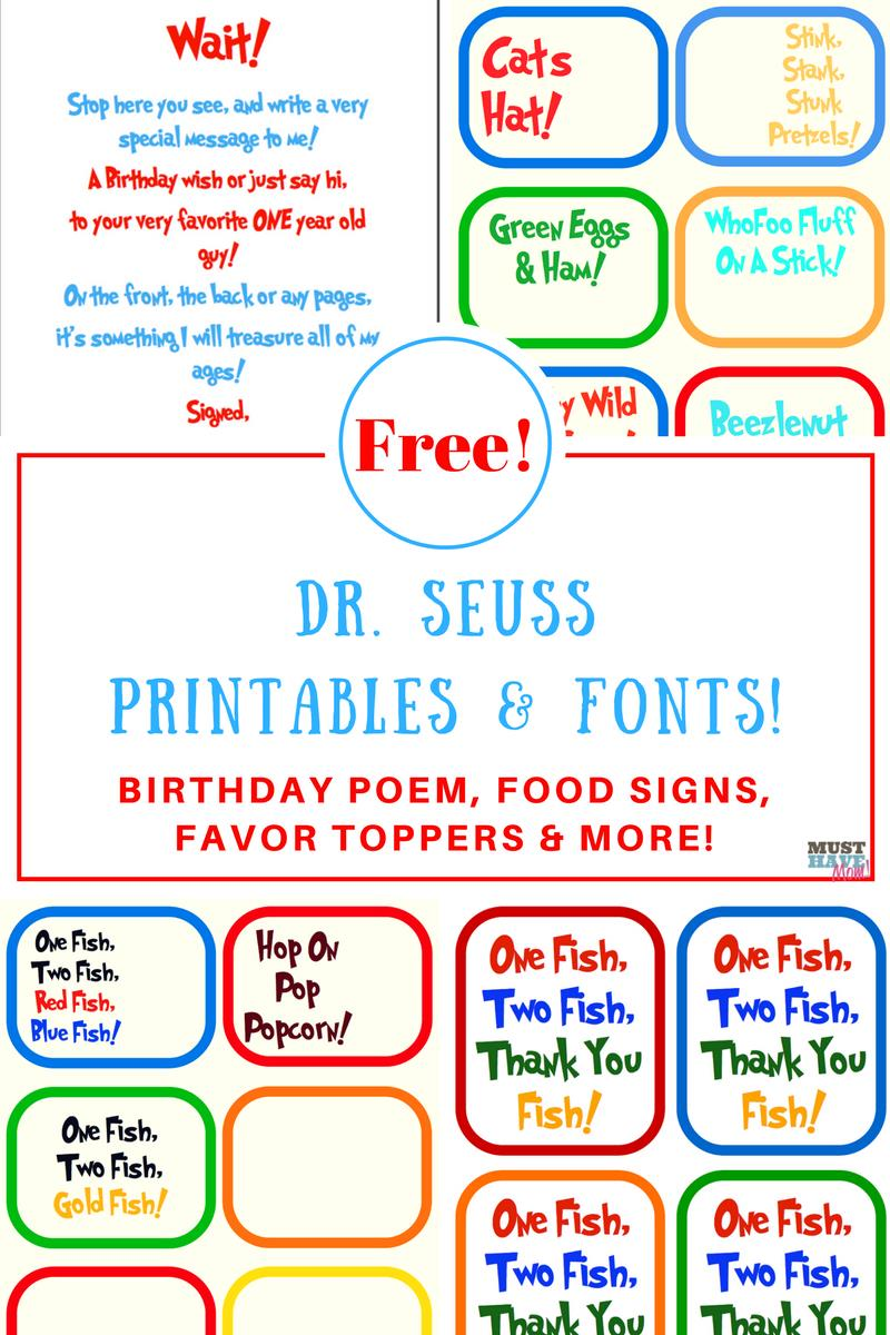 free printable birthday party signs ; FREE-Dr