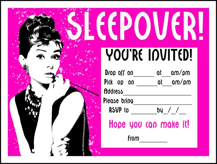 free printable birthday sleepover invitation templates ; 25c3342c5f8595aeb521b1269d219079