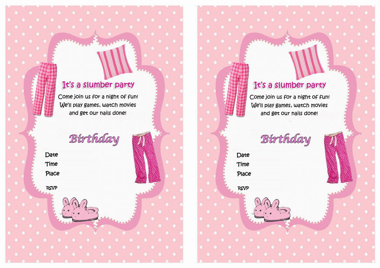 free printable birthday sleepover invitation templates ; Sleepover-Party-Invites-Printable