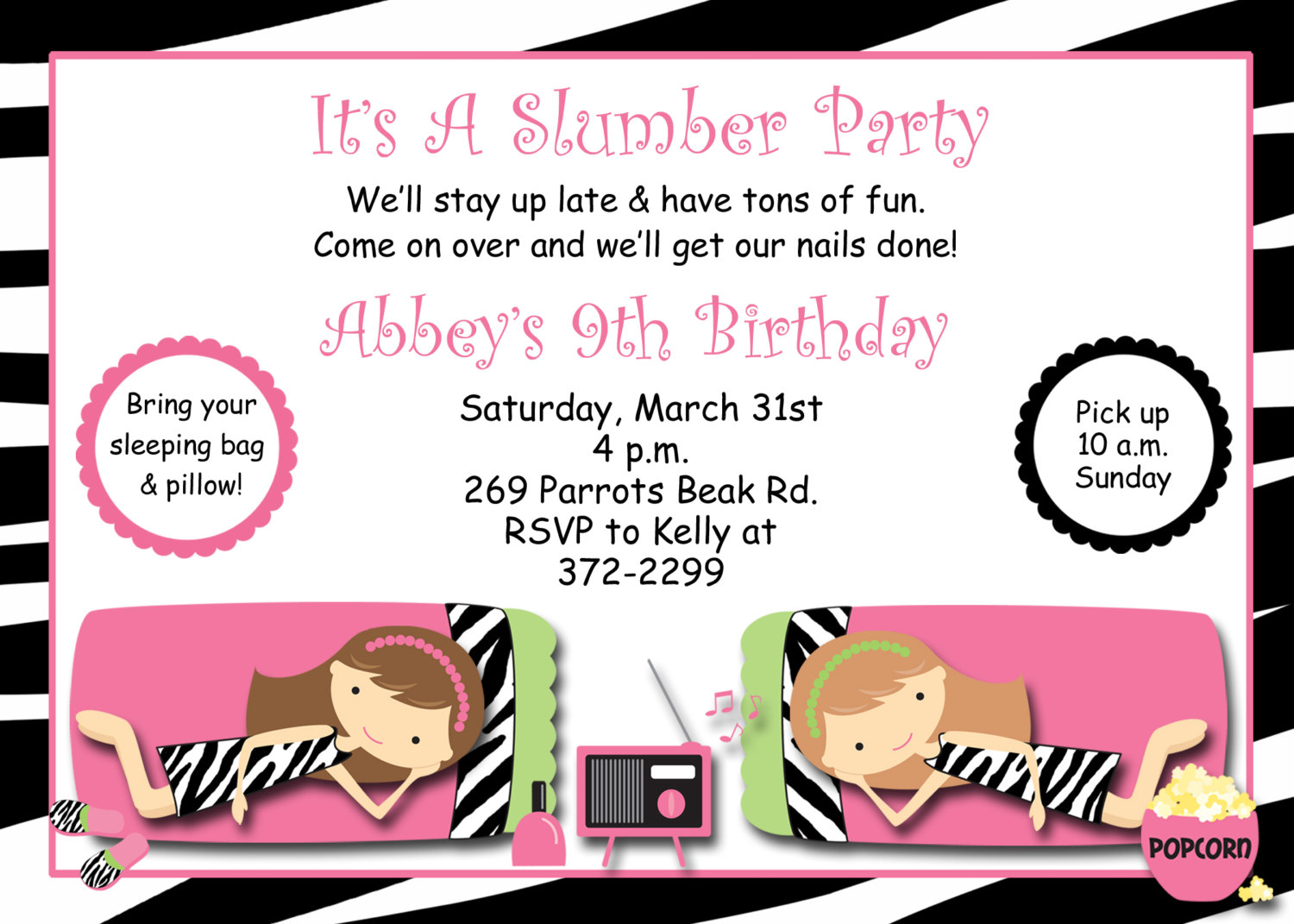 free printable birthday sleepover invitation templates ; bcd8b626859d88ddc1145f047182abb9