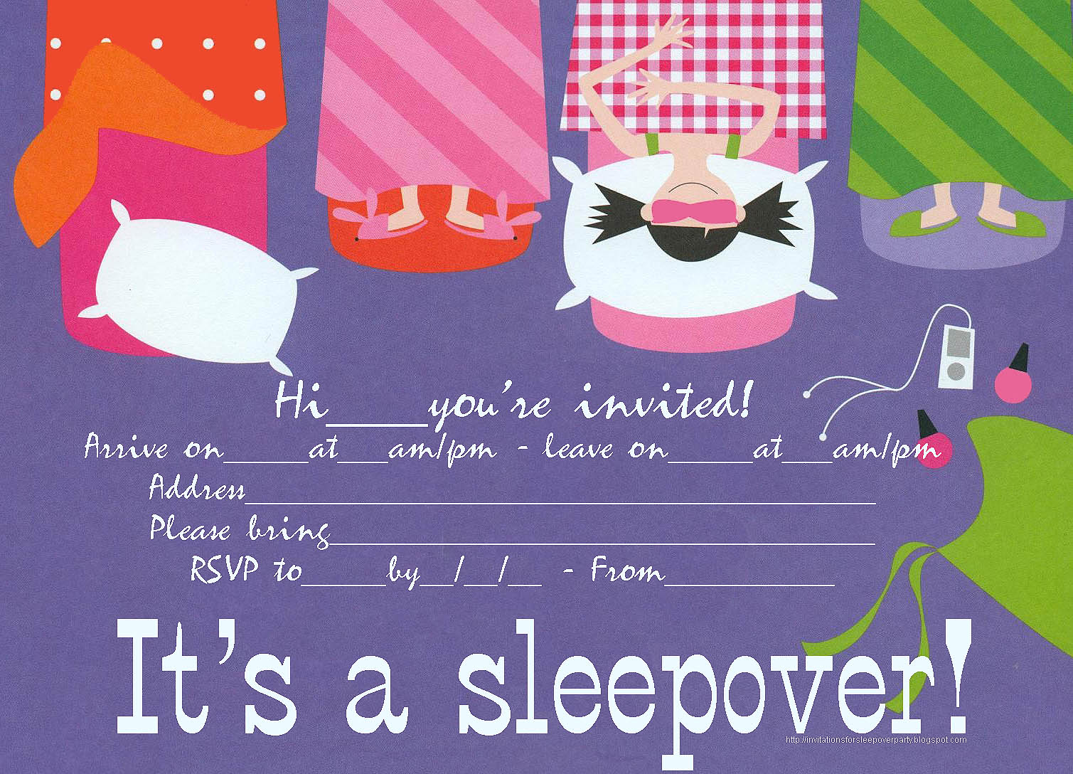 free printable birthday sleepover invitation templates ; e29b4b25adba0227c2cc0b69799c1cfe