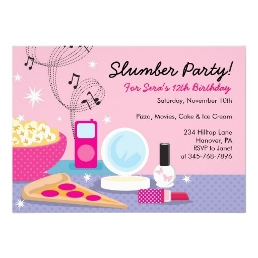 free printable birthday sleepover invitation templates ; free-printable-slumber-party-invitations-sleepover-birthday-invitations-template-resume-builder