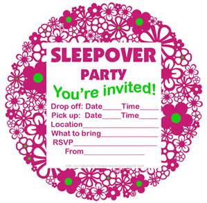 free printable birthday sleepover invitation templates ; pajama-party-invitation-template