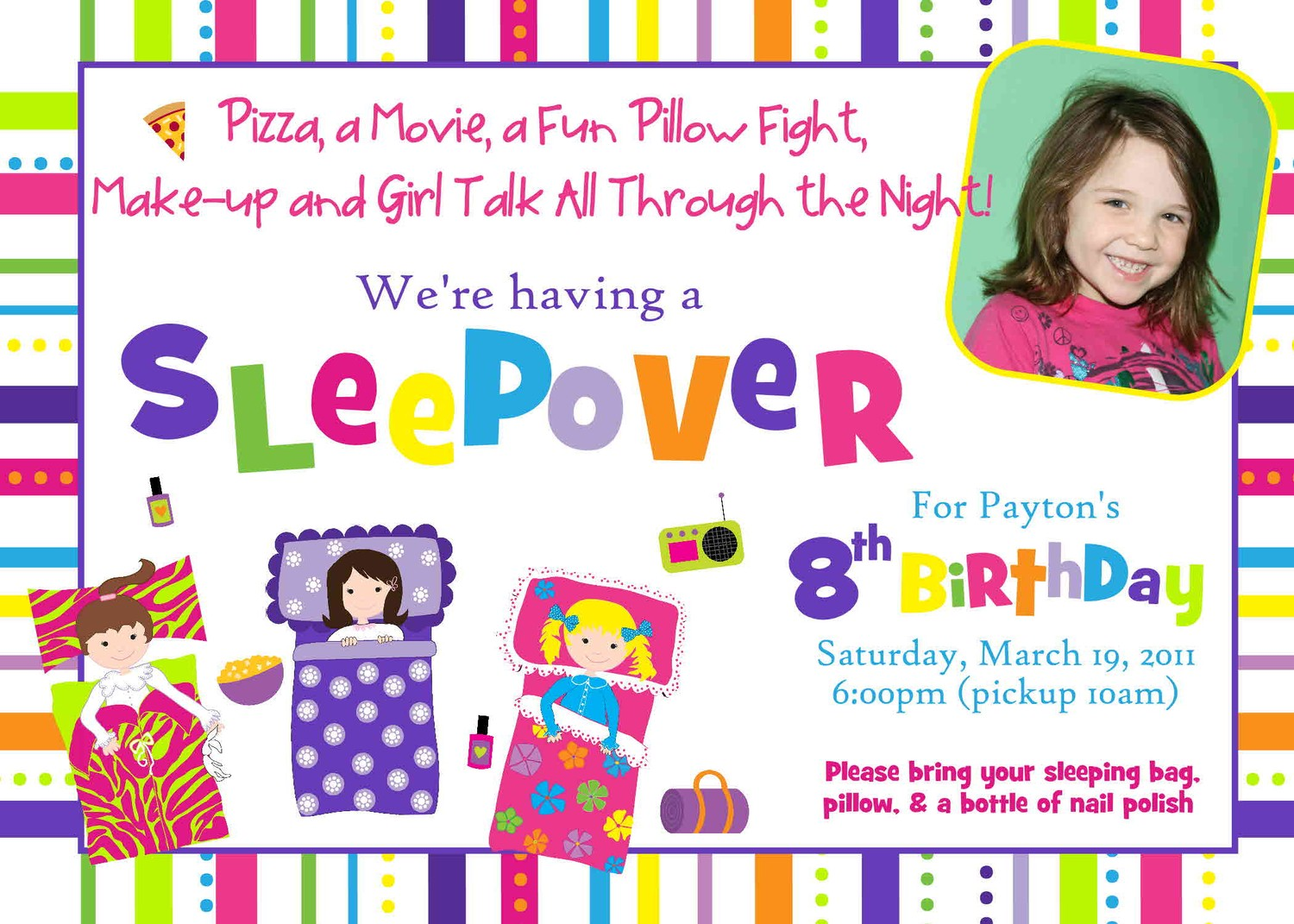 free printable birthday sleepover invitation templates ; printable_slumber_party_birthday_invitations_free
