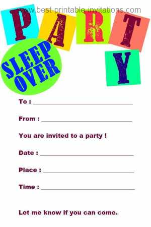 free printable birthday sleepover invitation templates ; sleepover-party-invites-printable-free-printable-slumber-party-invitations-template-best-template-printable
