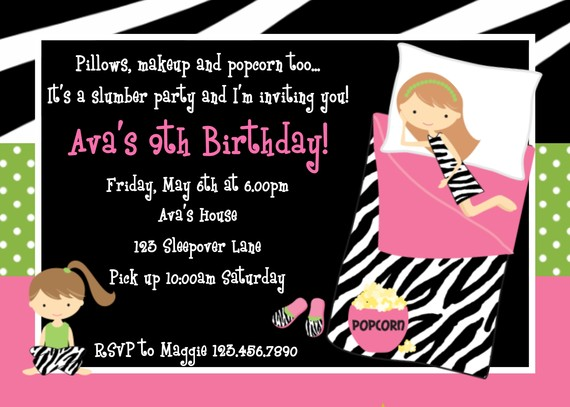 free printable birthday sleepover invitation templates ; slumber-party-invitation-template-free-printable-slumber-party-birthday-invitations-drevio-template
