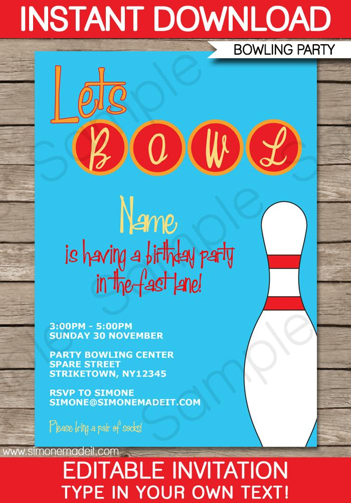 free printable bowling birthday party invitation templates ; bowling-party-invitation-template-free-bowling-party-invitations-template-birthday-party-template
