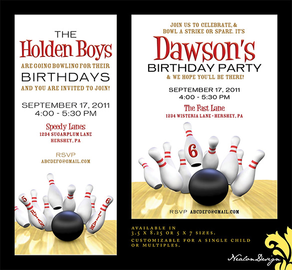 free printable bowling birthday party invitation templates ; free-printable-bowling-party-invitations-15-outstanding-bowling-invitation-templates-designs-free-template