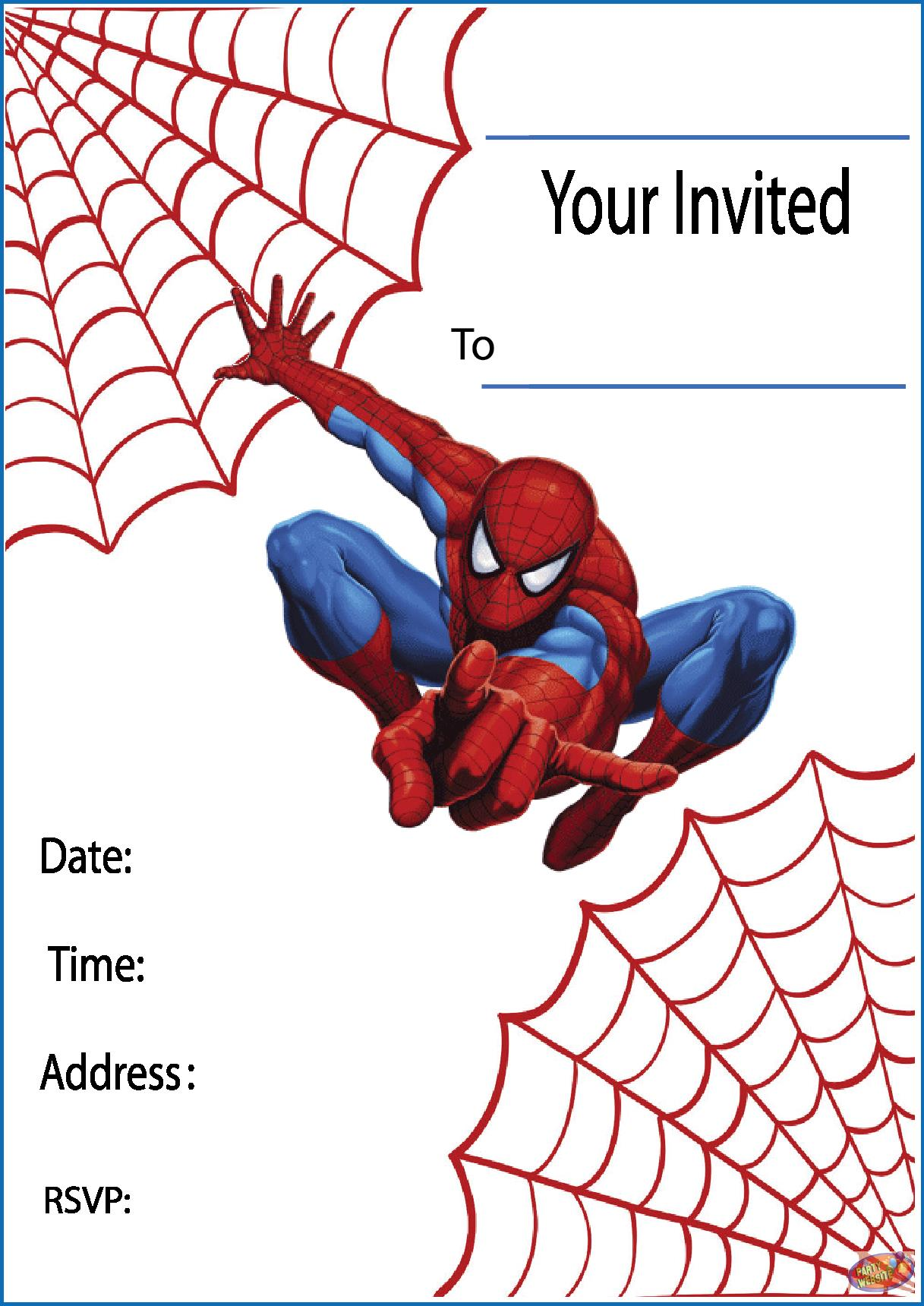 free printable boy birthday invitation templates ; Spiderman-Birthday-Invitations-and-get-ideas-how-to-make-pretty-birthday-Invitation-appearance-1