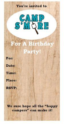 free printable camping themed birthday invitations ; 0380850563d2ede2fba3ec35721600a2--th-birthday-themed-birthday-parties