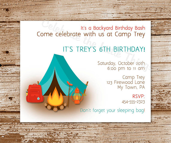 free printable camping themed birthday invitations ; 0bb7093d10f0a76564002c52c2fcce78