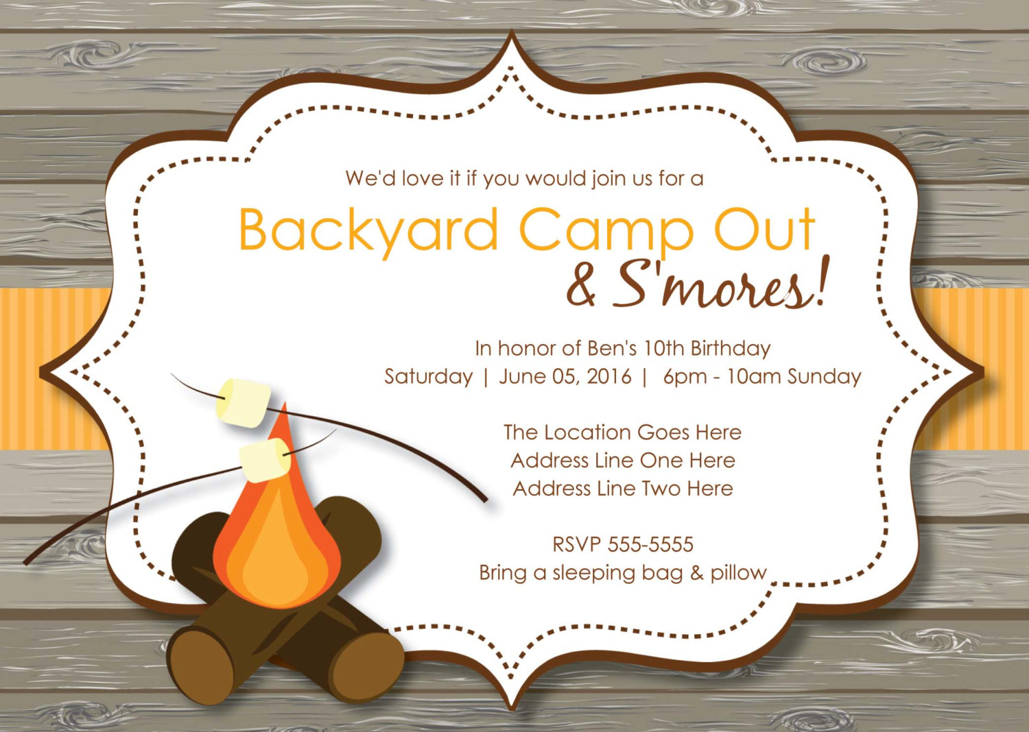 free printable camping themed birthday invitations ; 2d2d3006e8fbe14b94a3639112e895f2