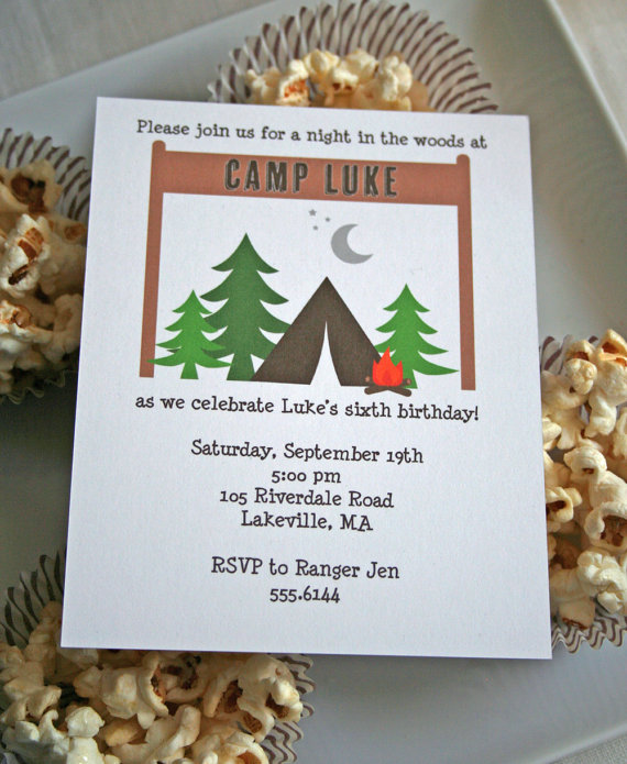 free printable camping themed birthday invitations ; e65a05814c95c5059db7b54e6534e076