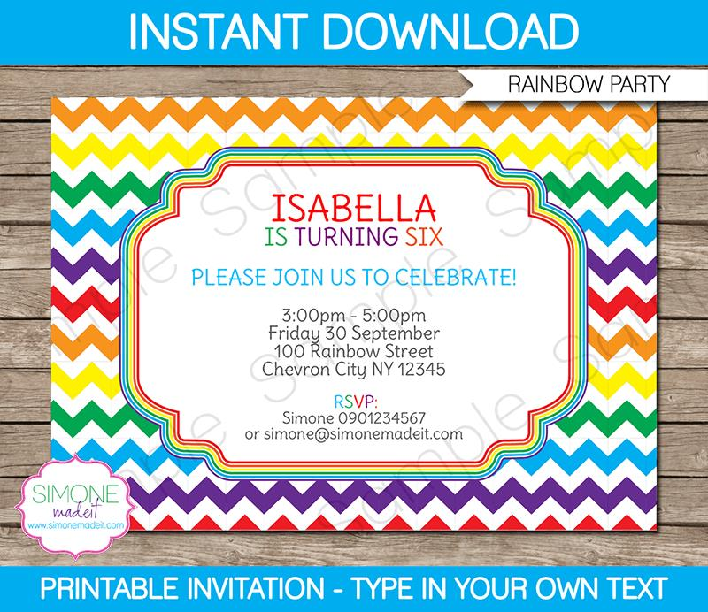 free printable first birthday invitation templates ; free-printable-rainbow-party-invitations-rainbow-party-invitations-template-birthday-party-template