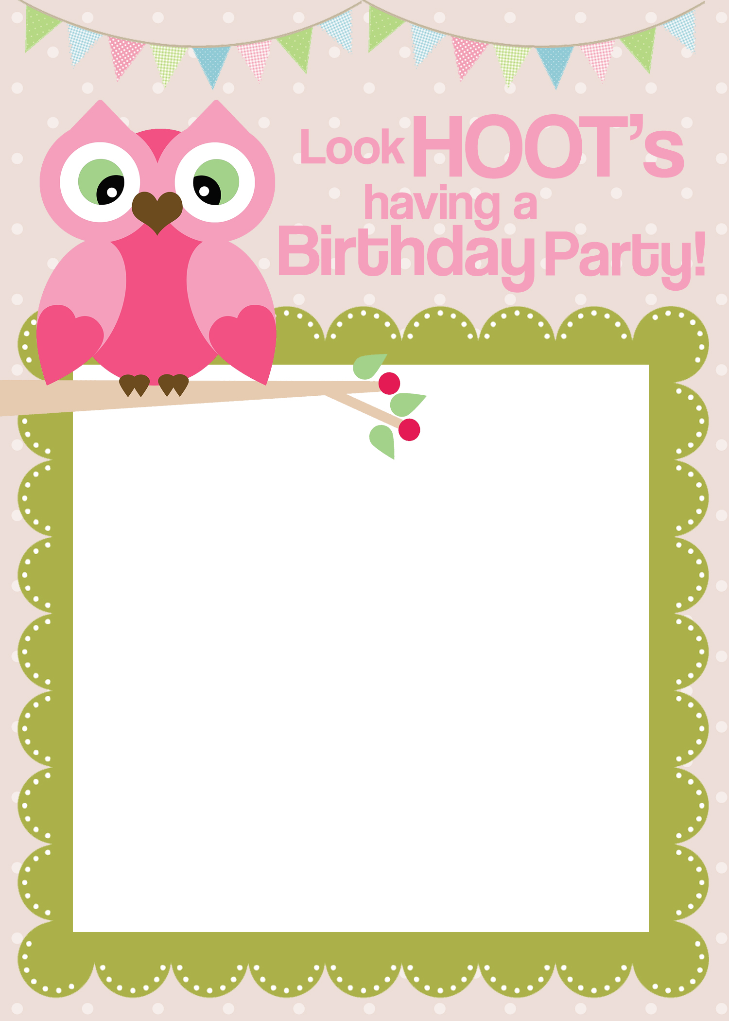 free printable first birthday invitation templates ; owl-birthday-party-invite
