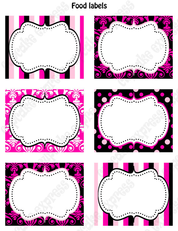 free printable food labels for birthday party ; 9689bad15f64d2f4d585b51f538551b6