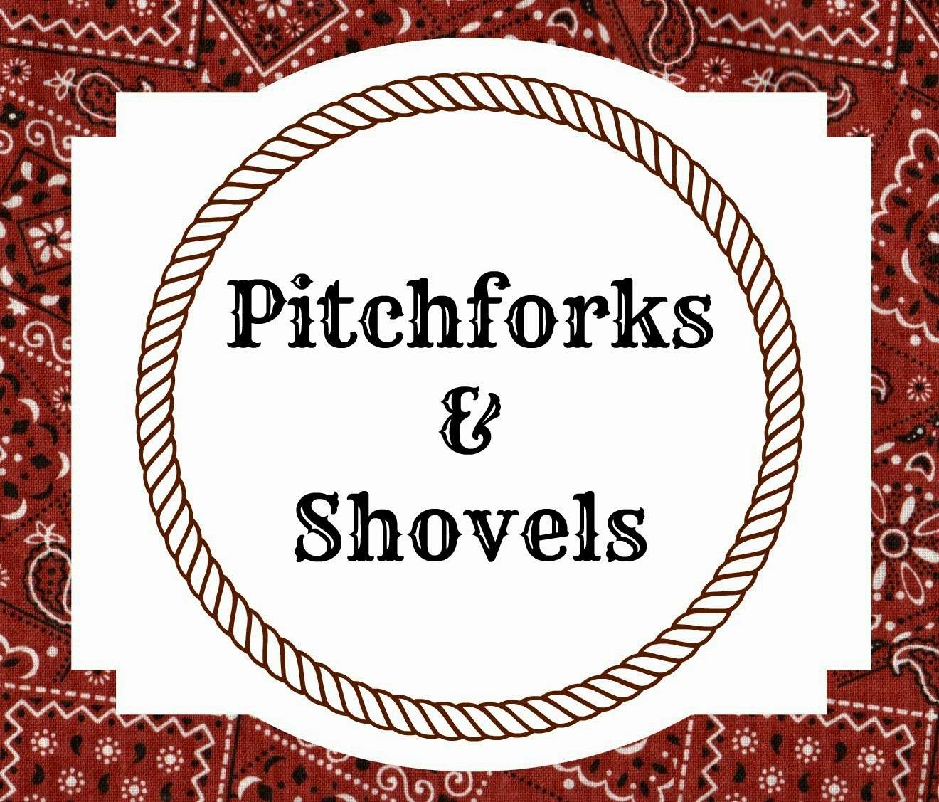free printable food labels for birthday party ; Bandana+Label+Pitchforks+and+Shovels