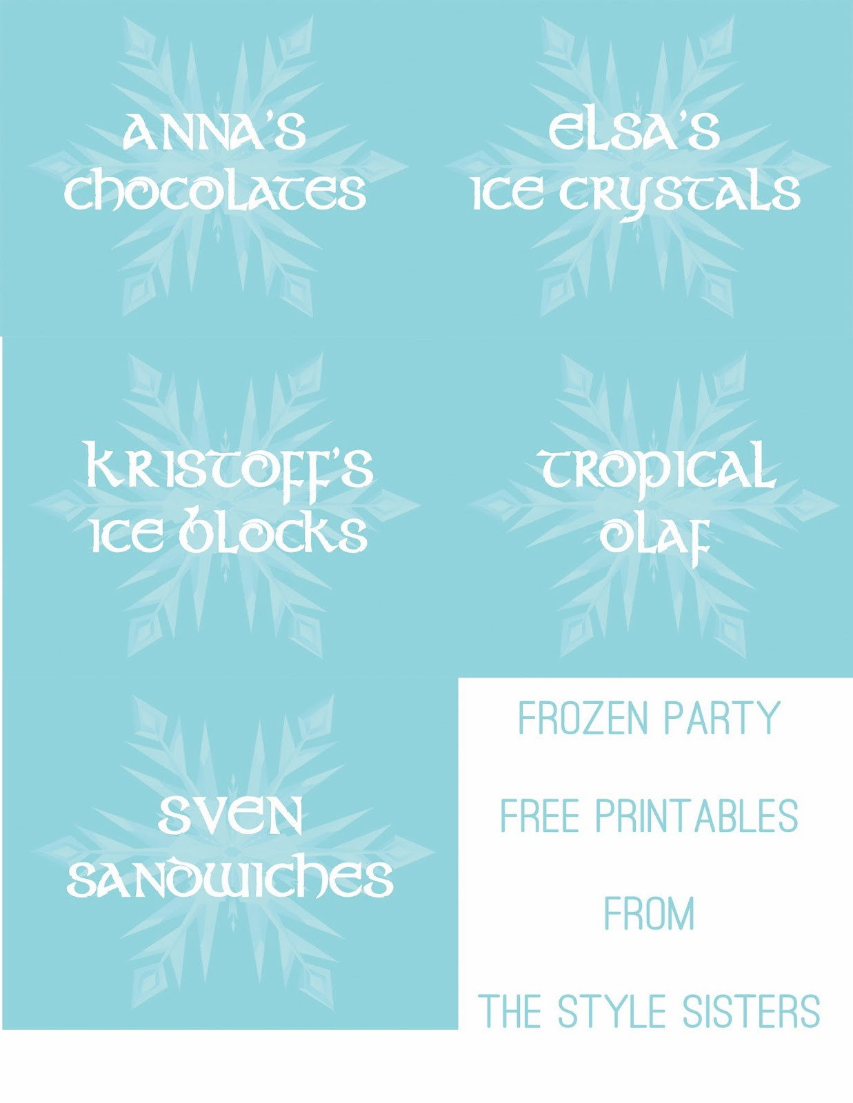 free printable food labels for birthday party ; Printable+Food+Lables