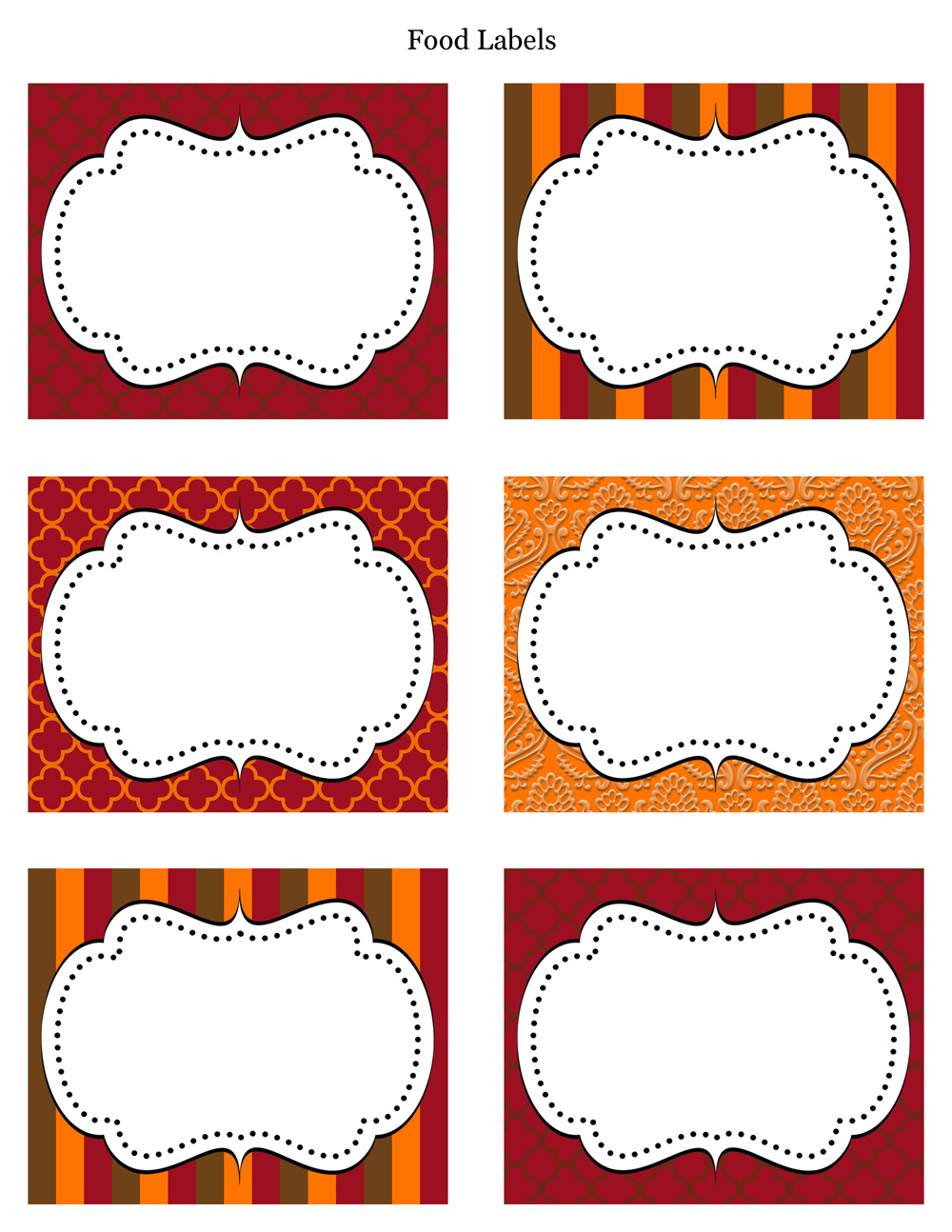 free printable food labels for birthday party ; free-thanksgiving-food-labels-printable