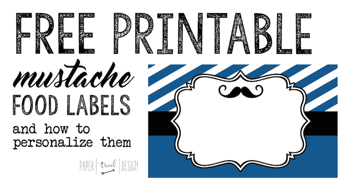 free printable food labels for birthday party ; mustache-food-label-short