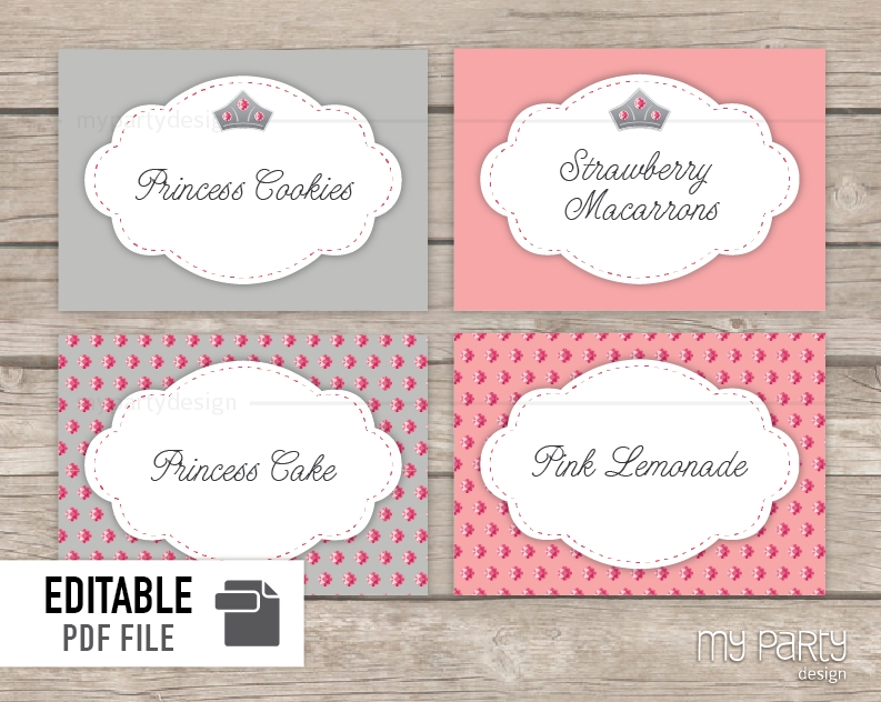 free printable food labels for birthday party ; princess-birthday-party-printable-food-labels-my-party-design-within-free-editable-printable-food-labels