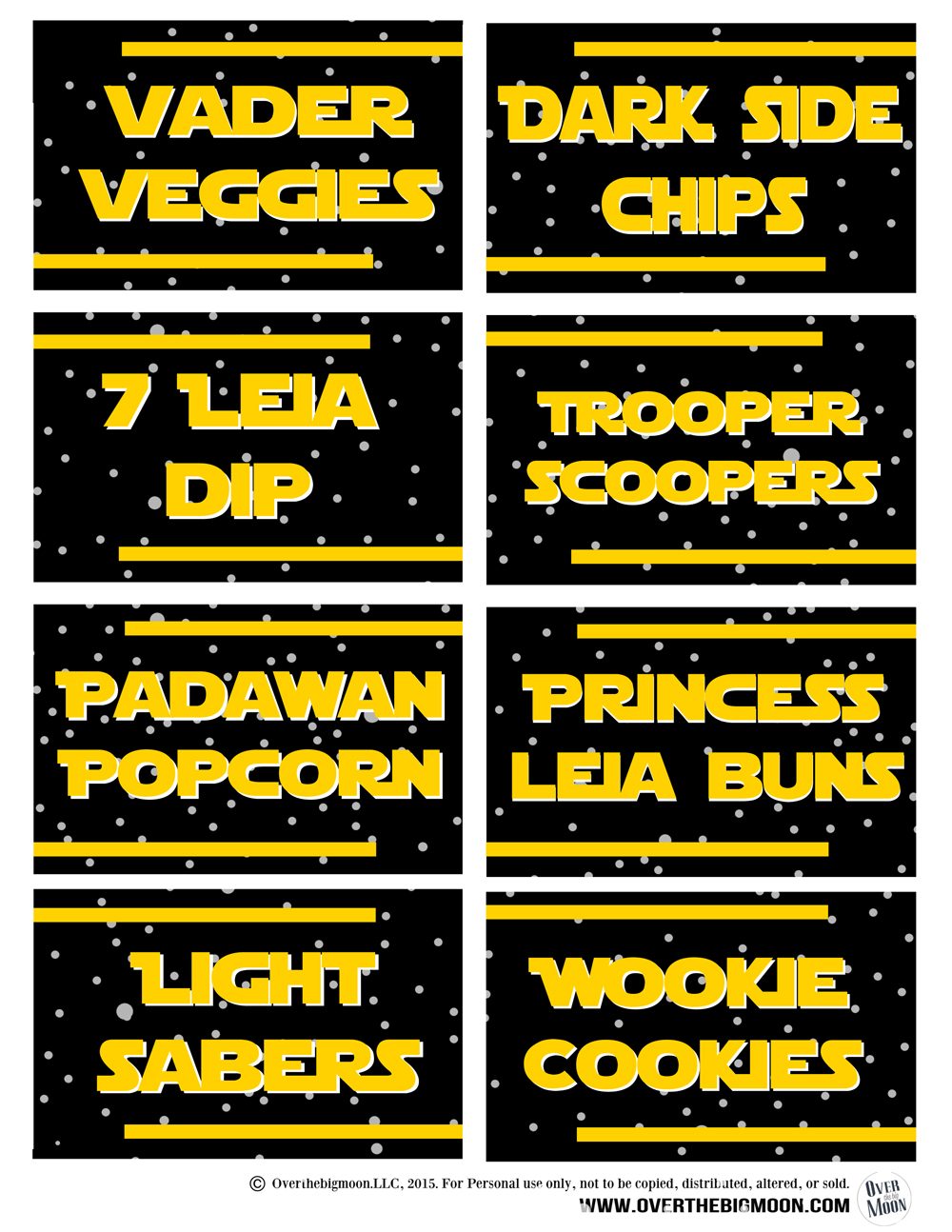 free printable food labels for birthday party ; star-wars-food-labels-2