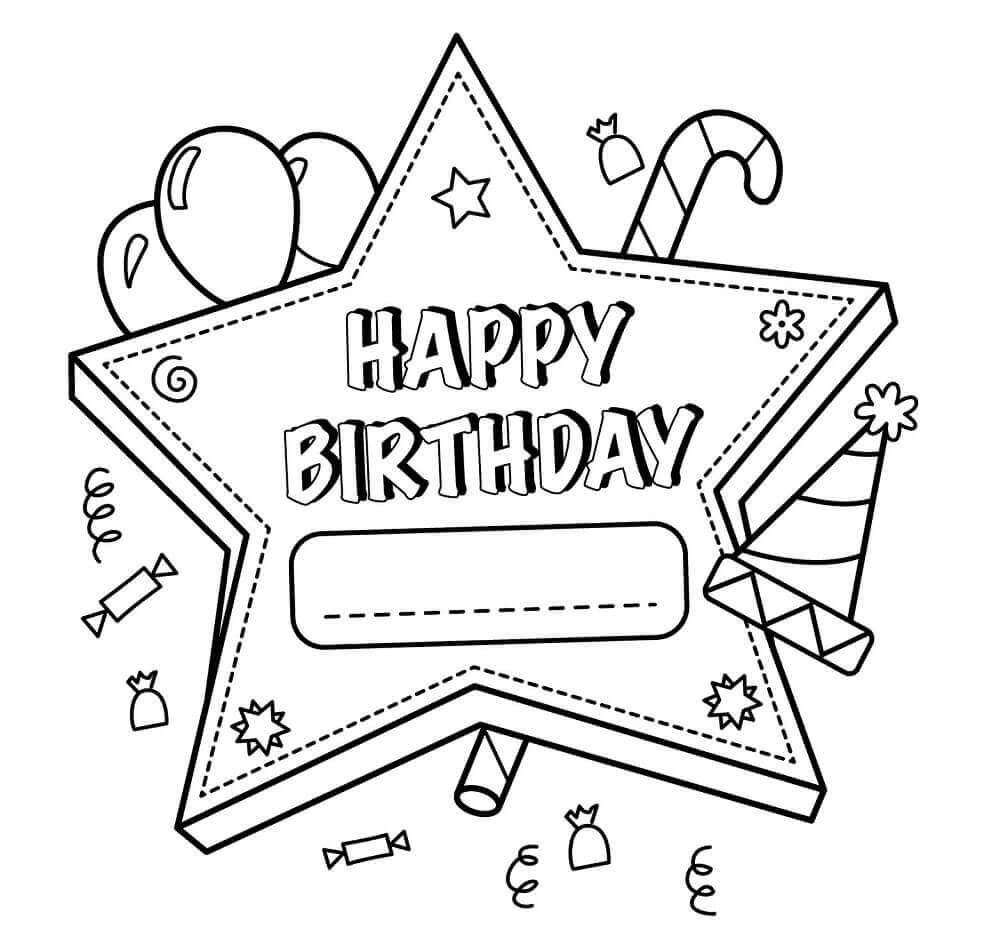 free printable happy birthday coloring sheets ; Free-Printable-Happy-Birthday-Coloring-Pages-For-Teachers