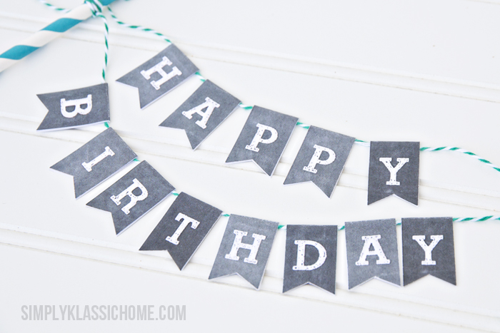 free printable happy birthday signs ; Happy+Birthday+Chalkboard+Bunting