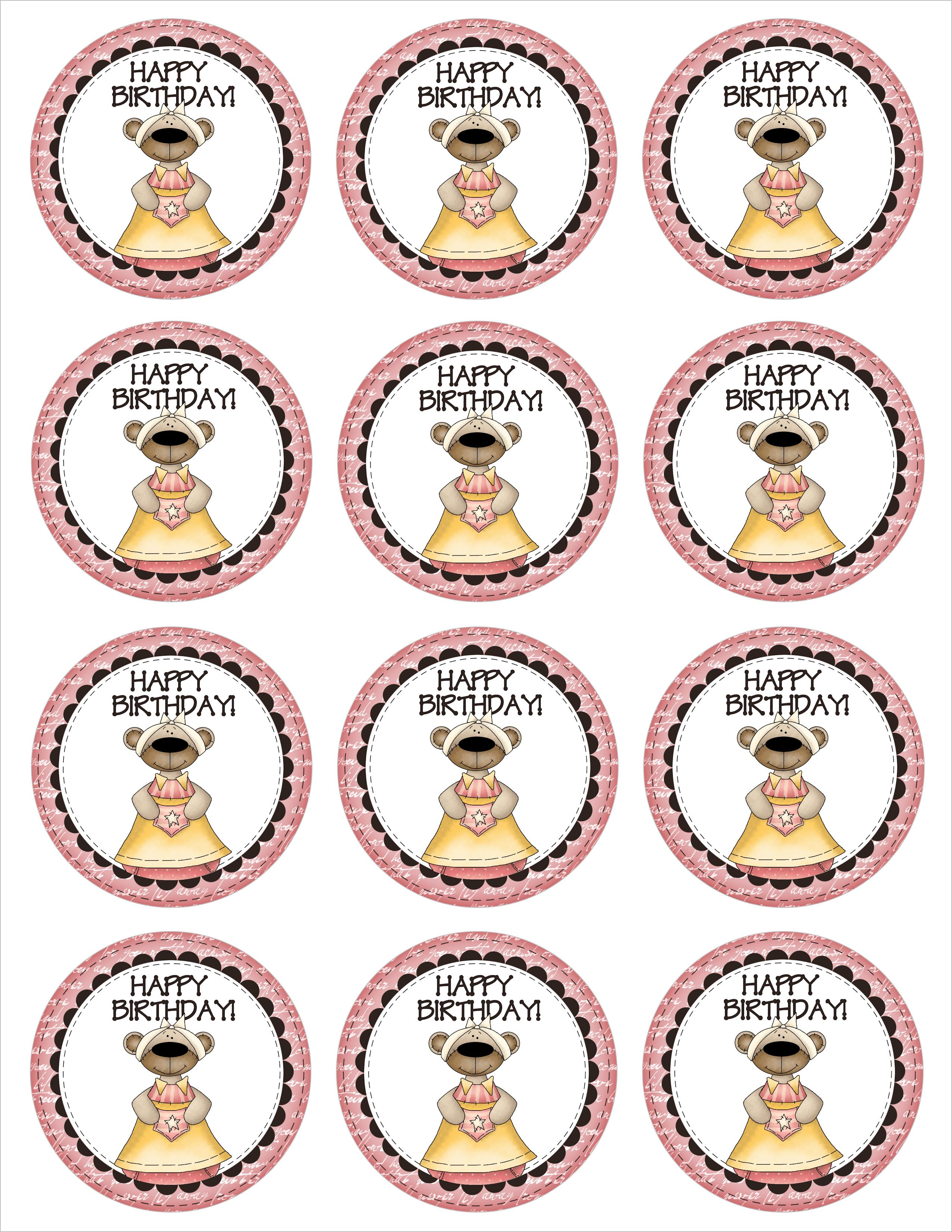 free printable happy birthday tags ; 12pkbirthdaybeartoppers