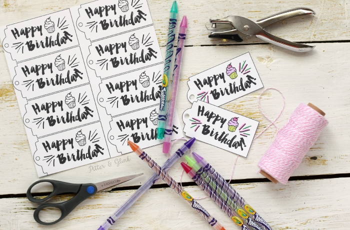 free printable happy birthday tags ; Birthday%252BGift%252BTags%252Bwith%252BCrayonz