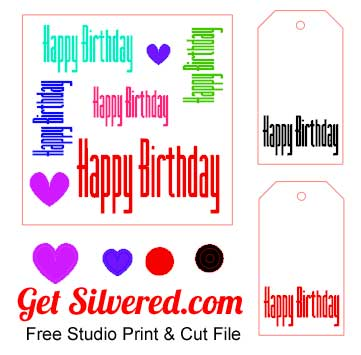 free printable happy birthday tags ; CardTag
