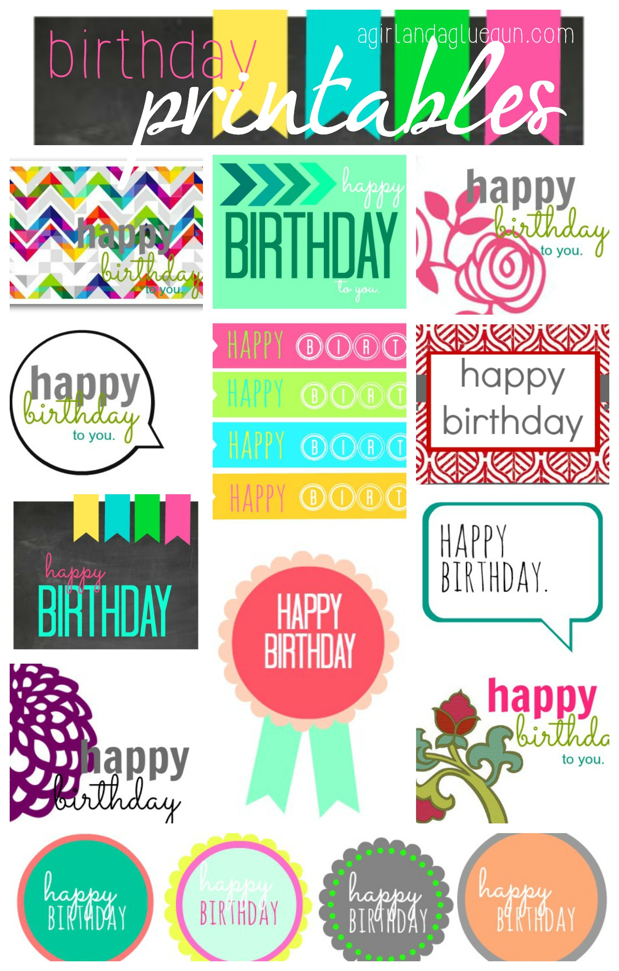 free printable happy birthday tags ; free-birthday-printables