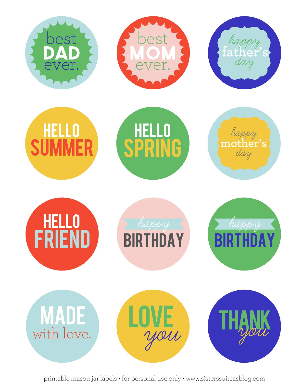 free printable happy birthday tags ; printable-mason-jar-tags-summer+copy