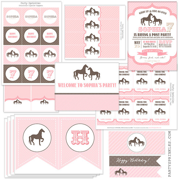 free printable horse themed birthday party invitations ; 7538362d07c33df734ad31c9cf5c427b