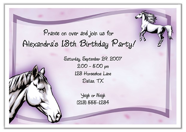 free printable horse themed birthday party invitations ; Exciting-Horse-Birthday-Party-Invitations-To-Design-Printable-Birthday-Invitations