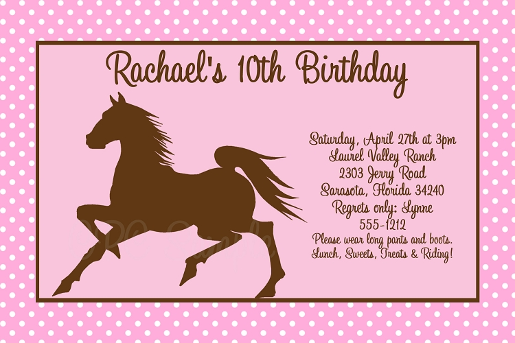 free printable horse themed birthday party invitations ; horse-party-invitations-horse-birthday-party-invitations-plumegiant-ideas