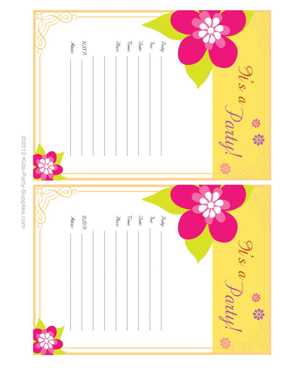 free printable kids birthday party invitations ; nice_luau_kids_birthday_party_invitations_became_efficient_article_9
