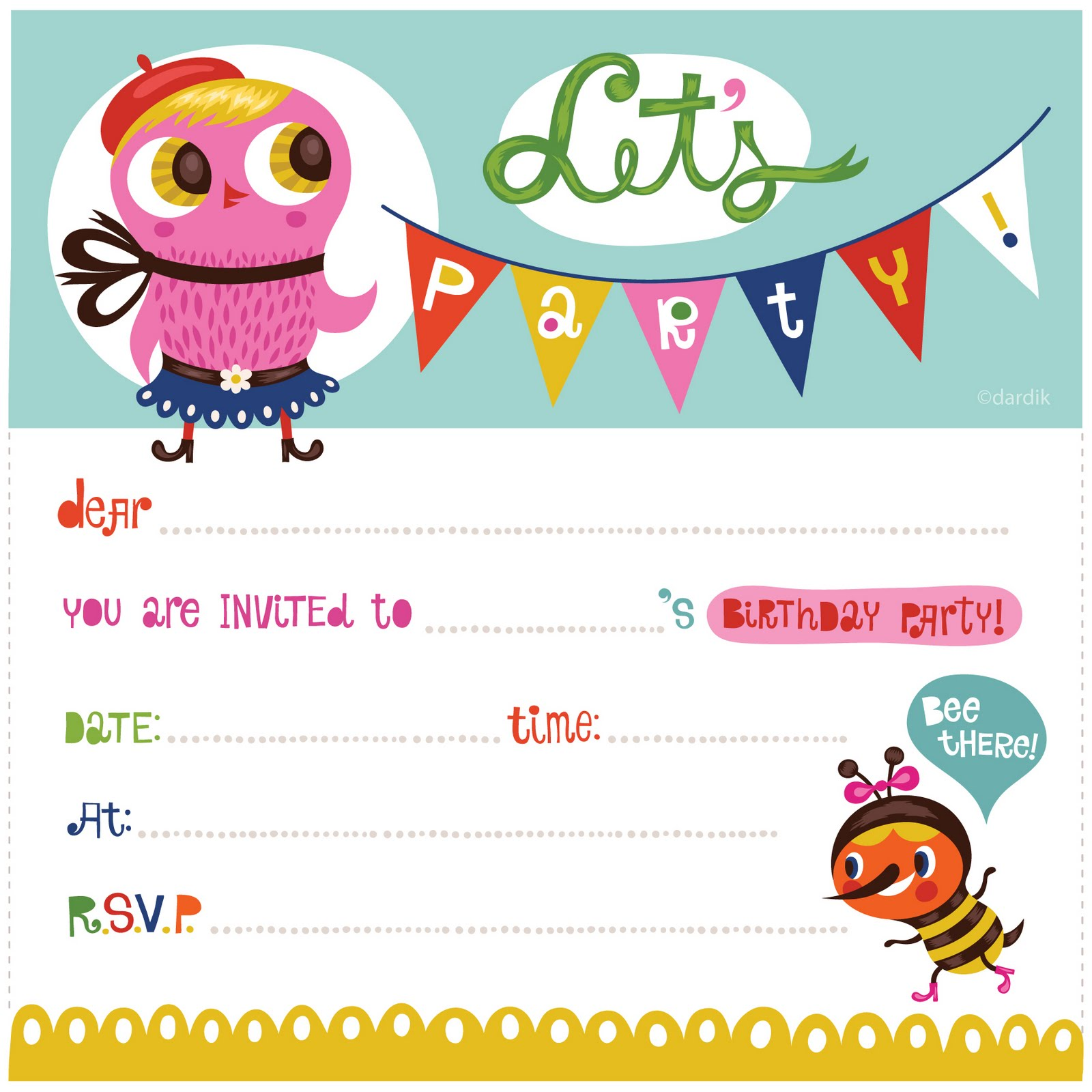 free printable kids birthday party invitations templates ; Most-Popular-Birthday-Cards-to-inspire-you-how-to-create-the-birthday-Card-with-the-best-way-4