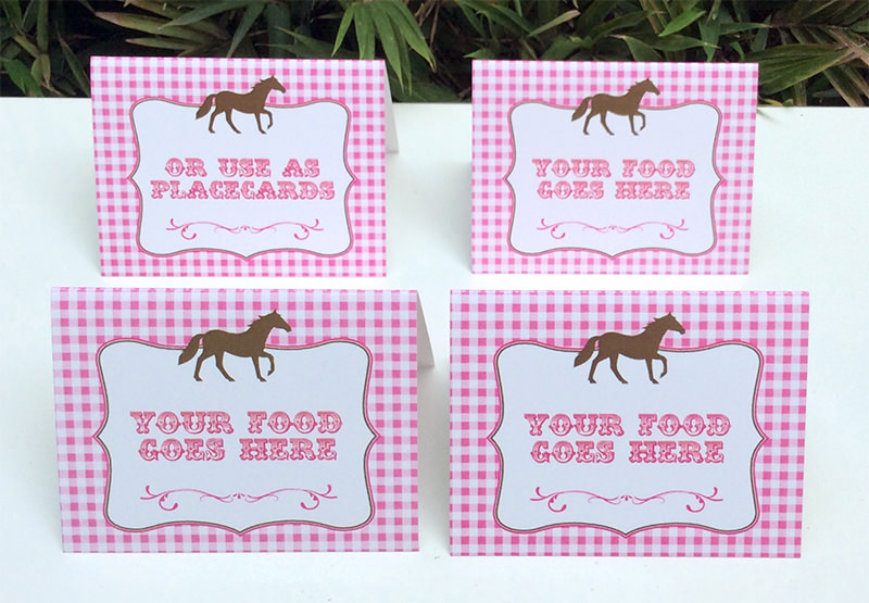free printable labels for birthday party ; Pony-Horse-Party-Food-Labels