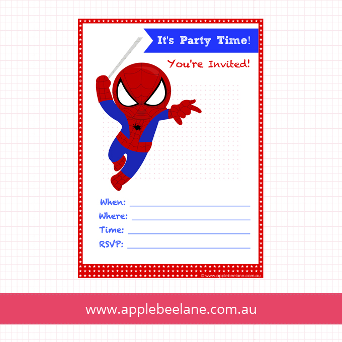 free printable spiderman birthday invitation templates ; 0256d6584dbcb28b3bffe1357c17d201