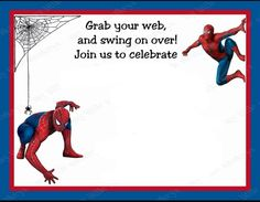 free printable spiderman birthday invitation templates ; 158acaad03e085247a067b746b6b7b35--man-birthday-third-birthday