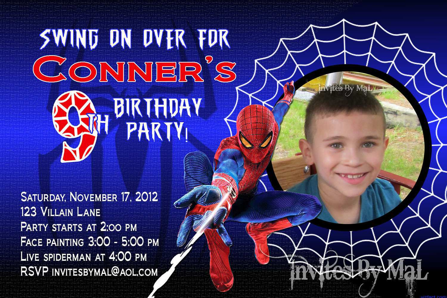 free printable spiderman birthday invitation templates ; Free-Spiderman-Birthday-Invitations-