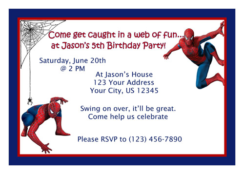 free printable spiderman birthday invitation templates ; cc50445f58d0feceea5e57de3593e0bd