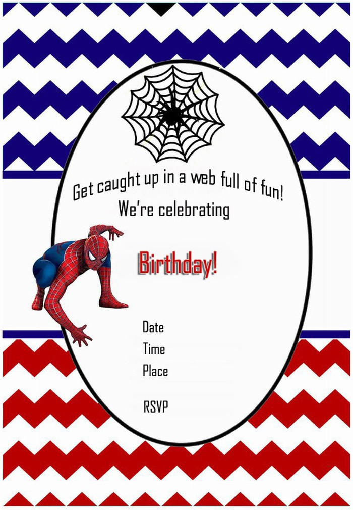 free printable spiderman birthday invitation templates ; editable-spiderman-birthday-invitation-spiderman-free-printable-invitation-templates