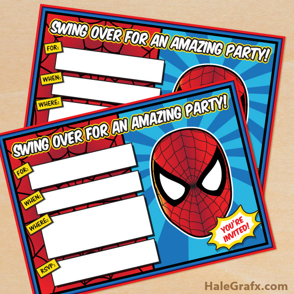 free printable spiderman birthday invitation templates ; free-spider-man-invitations